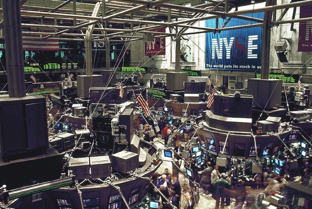 stock exchange, trading floor, new york